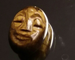 TIGERS EYE 8.55 CARAT WEIGHT BEAUTIFUL HAND CARVED  CABOCHON
