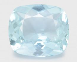 Aquamarine 6.71 Cts Un Heated Blue Natural Loose Gemstone