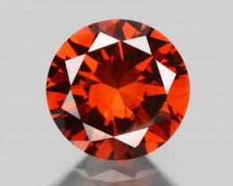 Diamond 0.28 Cts Sparkling Rare Fancy Orange Red Color Natural