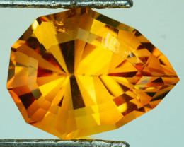 ~CUSTOM CUT~ 5.04 Cts Natural AA Orange Citrine Fancy Pear Brazil