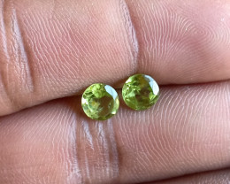 Natural Peridot Gemstone Pair 100% Genuine VA5323