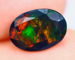 1.77cts Natural Ethiopian Faceted Smoked Welo Opal / KL1075