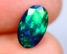 1.46cts Natural Ethiopian Faceted Smoked Welo Opal / KL1077