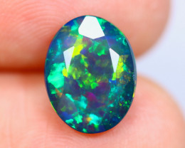 2.50cts Natural Ethiopian Faceted Smoked Welo Opal / KL1079