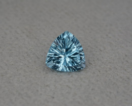 Natural Blue Topaz 4.53 Cts Concave Cut.
