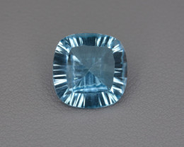 Natural Blue Topaz 8.04 Cts Concave Cut.