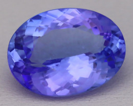 5.16Ct Natural Vivid Blue Tanzanite IF Flawless Oval Master Cut C0102
