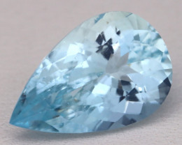Aquamarine 5.45Ct VS2 Pear Cut Natural Santa Maria Aquamarine C3126