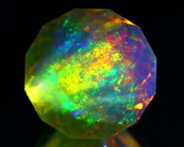 9.20Ct Ethiopian ContraLuz Rainbow Flash Color Opal Precision Cut C0115