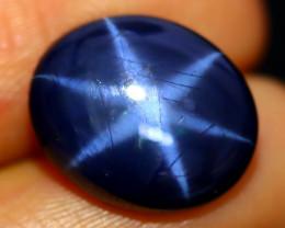 Blue Star Sapphire 9.10Ct Natural 6 Rays Blue Star Sapphire C0118