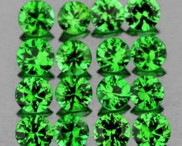 2.20 mm Round 20 pcs 1.10cts Tsavorite Green Garnet [VVS-VS]
