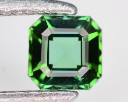 AAA Grade 0.80 ct Natural Green Tourmaline Emerald Cut