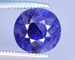 Top Quality 2..35 ct Ink Blue Color Sapphire Ring Piece