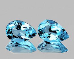 12x8 mm Pear 2 pcs 7.05cts Sky Blue Topaz [VVS]