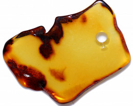 27 Cts  Natural  Amber Slice  Beads  from Poland  code CCC2932