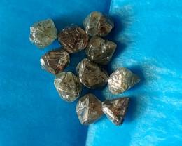 NATURAL WHITE DIAMOND  ROUGH  10 pcs lot app 10ctw crystal shape