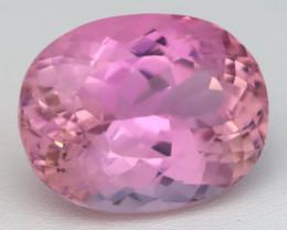 Kunzite 27.81Ct VVS Afghanistan Vivid Pink Precision Oval Cut C0131