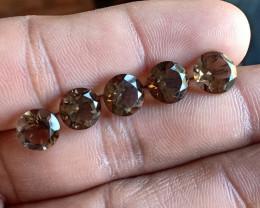 Smoky Quartz Wholesale Caliberated Parcel Natural+Untreated Gemstones VA537