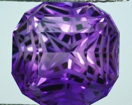 ~CUSTOM CUT~ 16.20 Cts Natural Purple Amethyst Fancy Octagon Bolivia