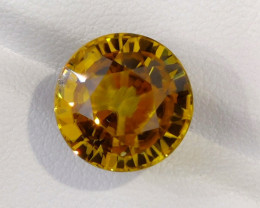 14.18 CTS GORGEOUS RARE NATURAL YELLOW ZIRCON ROUND 12.50 MM
