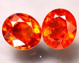 Garnet 3.08Ct 2Pcs Natural Orange Spessartite Garnet E0514/B34