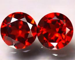 Almandine 3.02Ct 2Pcs Natural Vivid Blood Red Almandine Garnet E0515/B3