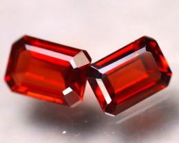 Almandine 2.45Ct 2Pcs Natural Vivid Blood Red Almandine Garnet E0516/B3