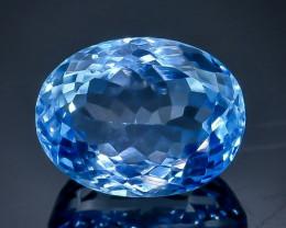 11.24 Crt Natural Topaz Faceted Gemstone.( AB 9)