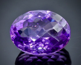 25.01 Crt Natural Amethyst Faceted Gemstone.( AB 9)