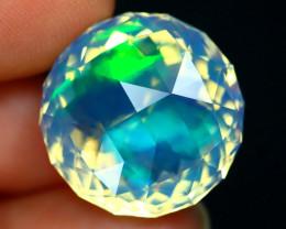 15.03Ct ContraLuz Flash Opal Precision Cut Ethiopian Crystal Opal A0202