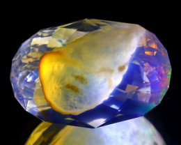 12.53Ct ContraLuz Flash Phantom Ghost Ethiopian Facted Fire Opal A0209