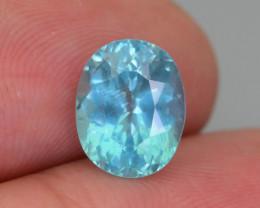 Rare 3.10 ct Amazing Luster Blue Apatite SKU.19