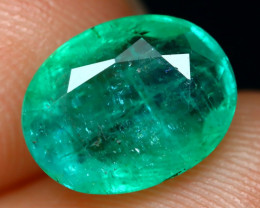 1.89Ct Zambian Emerald Oval Cut Natural Green Color Emerald A0228