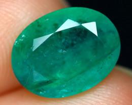 2.82Ct Zambian Emerald Oval Cut Natural Green Color Emerald A0231