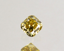 Fantastic!! 0.12 Cts Natural Untreated Diamond Fancy Yellow Radiant  Cut Af