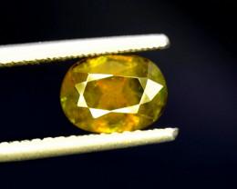 Sphene Titanite, 2.25 CT Natural Full Fire Sphene Titanite Gemstone