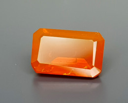 0.91Crt  Faceted Fire Opal Natural Gemstones JI13
