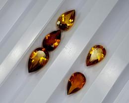 2.65Crt Madeira Citrine Lot Natural Gemstones JI13