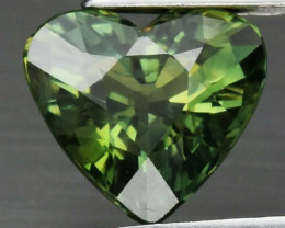 CERTIFICATE Incl.*1.18ct VS Heart Natural Unheated Green Sapphire