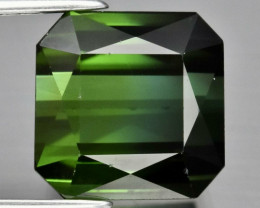 5.00ct VVS Square Scissor Cut Green Tourmaline - 9x9mm