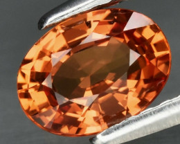 1.04 ct Natural Earth Mined Top Quality Orange Sapphire Songea, Tanzania