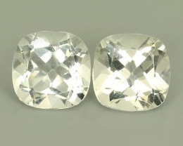 10.55 CTS INVESTMENT GEM~NATURAL WHITE TOPAZ 2 PCS PAIR