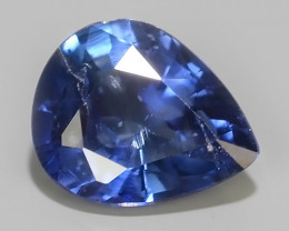 0.60 CTS AWESOME BLUE SAPPHIRE HEATED FACETED GENUINE