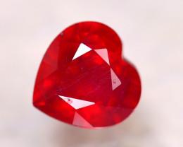 Ruby 3.60Ct Heart Shape Madagascar Blood Red Ruby EN65/A20