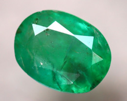 Emerald 1.70Ct Natural Zambia Green Emerald D0612/A37