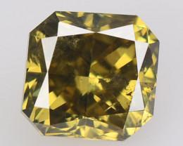 *No Reserve* Diamond 0.67 Cts Sparkling Fancy Intense Greenish Yellow Natur
