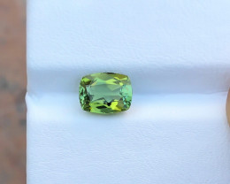 1.75 Ct Natural Greenish Yellow Transparent Tourmaline Gemstone