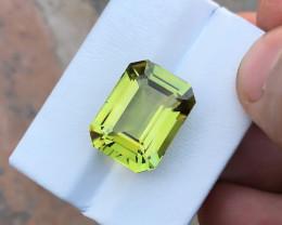 18.05 Ct Natural Greenish Yellow Transparent Kunzite Gemstone