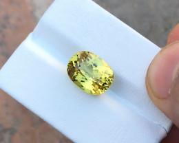 5.90 Ct Natural Yellow Transparent Triphane TOP Quality Gemstone