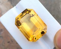 HGTL CERTIFIED 27.8 Ct Natural Yellow Transparent Citrine Gemstone
